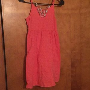 Cute spotted salmon dress